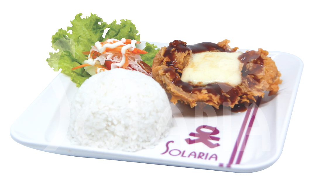 16. Chicken Steak Chessy Nasi Solaria