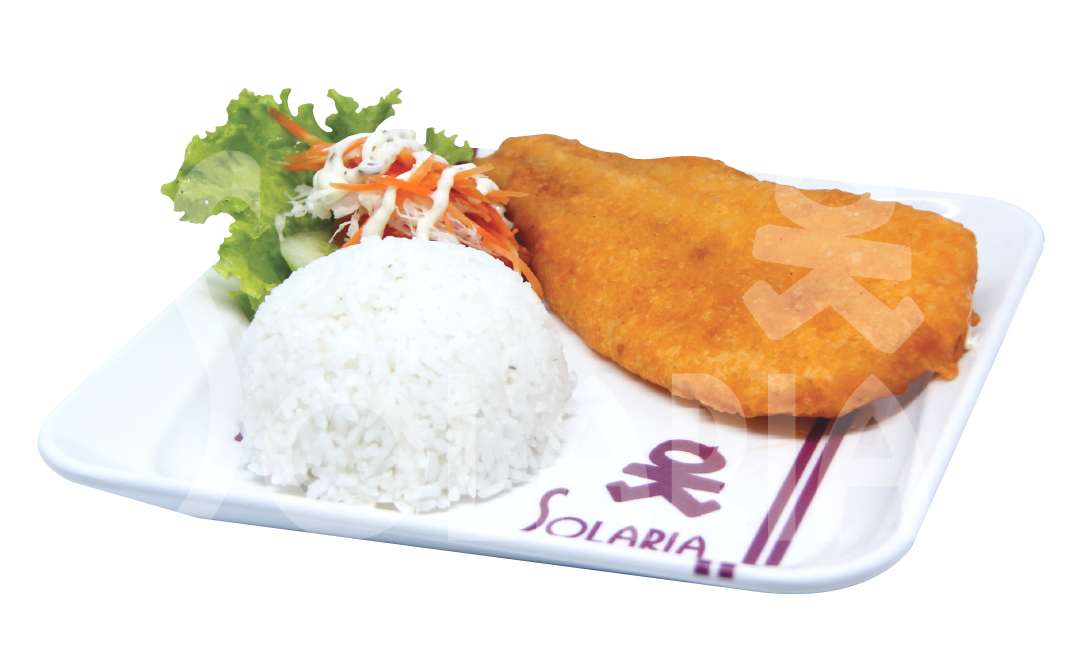 19. Fish & Chips Nasi Solaria
