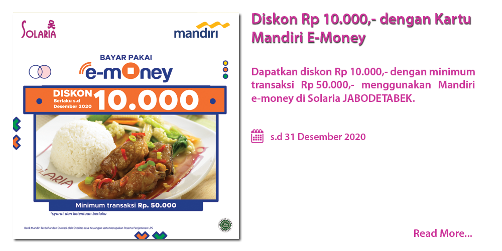 5. Promo Bank Mandiri e-money Solaria